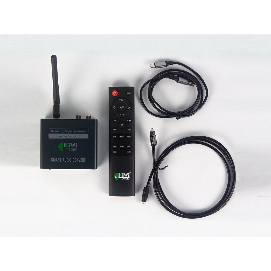Bộ Chuyển Đổi Âm Thanh Digital Sang Analog Kiwi KA-08 Bluetooth Giải Mã 24 Bit - Hàng Chính Hãng