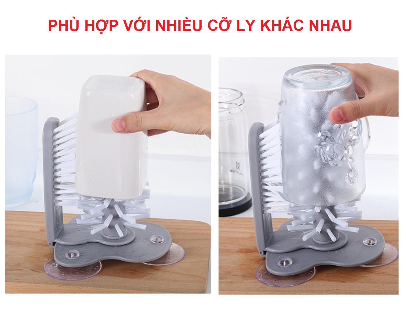 Dụng cụ cọ rửa ly tiện lợi, dụng cụ nhà bếp thông minh rửa cốc chén 2 mặt cùng lúc đồ gia dụng nhà bếp GD169-CoRLy