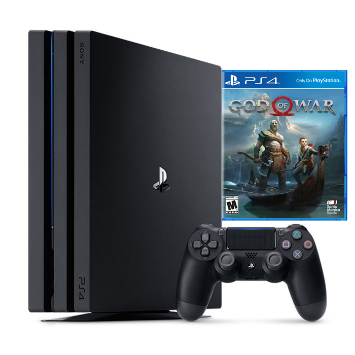 Bộ máy chơi game PS4 Pro 1TB kèm đĩa game godofwar 4 - chính hãng Sony Việt Nam
