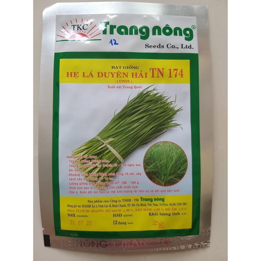 Hạt giống hẹ lá duyên hải TN 174 Trang Nông gói 2g