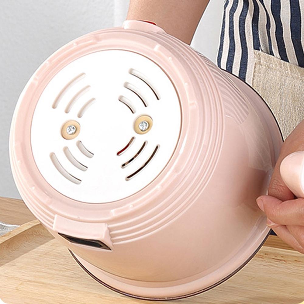 Nồi lẩu mini siêu tốc đa năng tặng kèm bộ bát đũa thìa nhựa lúa mạch, ca lẩu điện tiện dụng lõi chống dính, khay hấp có thể xào nấu, lẩu 1 người - Giao màu ngẫu nhiên
