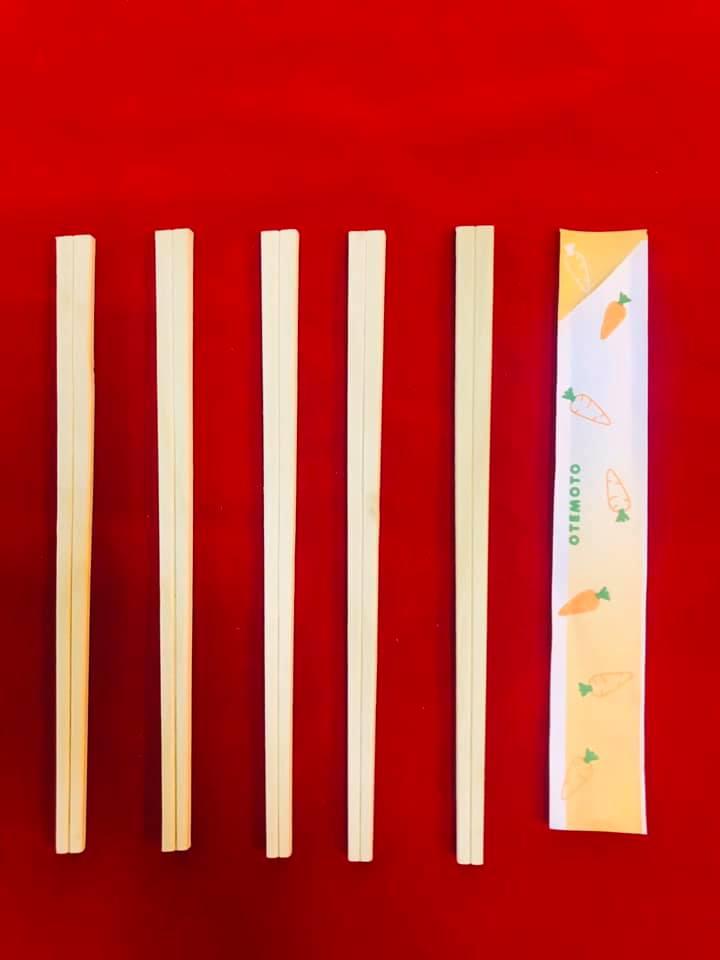 100 đôi đũa ăn dùng 1 lần xuất khẩu - bao giấy