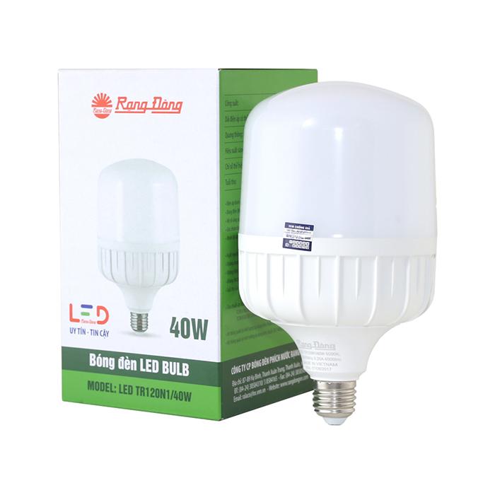 Bóng đèn LED BULB trụ 40W Rạng Đông TR120N1