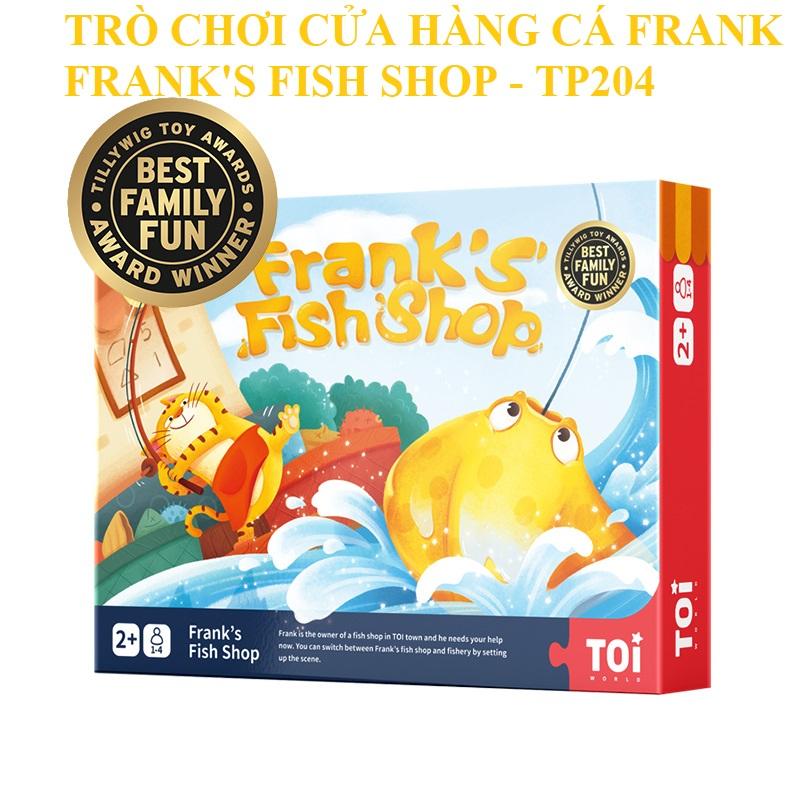 Bộ Đồ Chơi Câu Cá Nam Châm Gỗ Cho Bé 2+ Hãng TOI- Frank's Fish Shop TP204