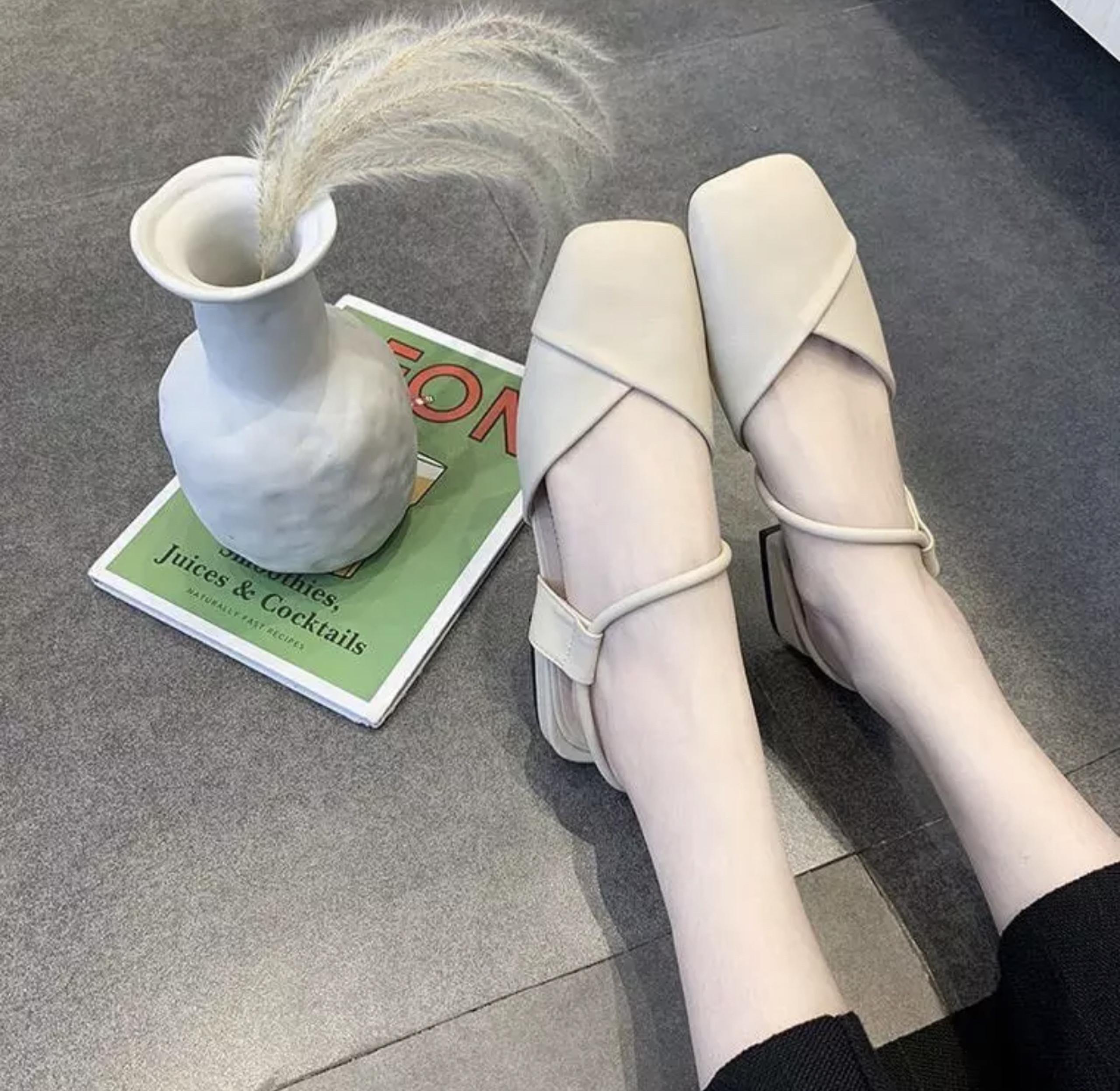 Giày bệt búp bê nữ vạt chéo phối quai xinh xắn- HG6