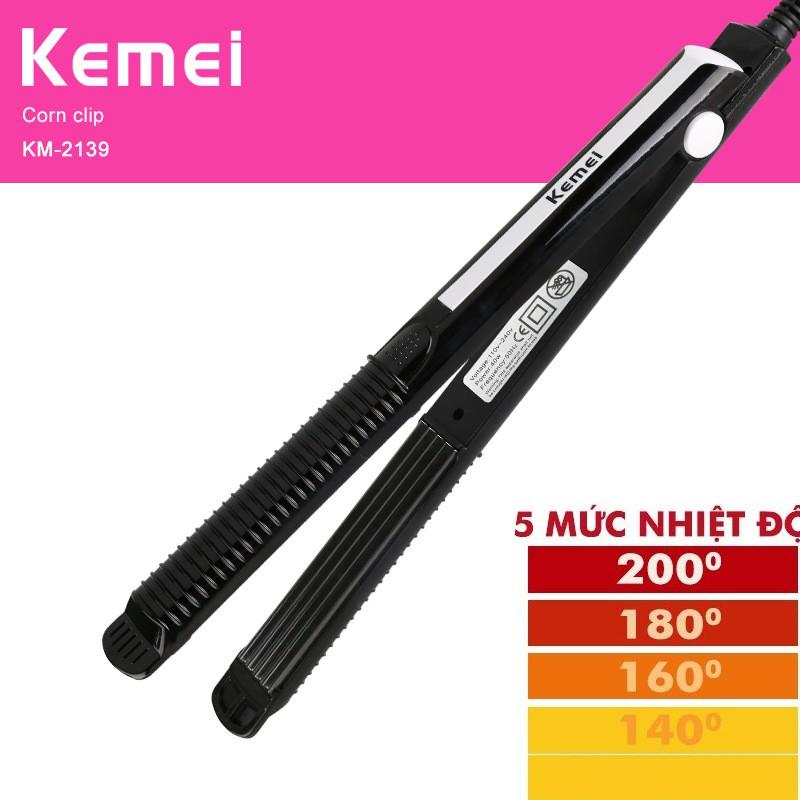 Máy duỗi tóc 5 mức chỉnh nhiệt kemei KM 2139