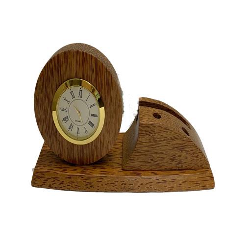 Đồng hồ danh thiếp gỗ dừa