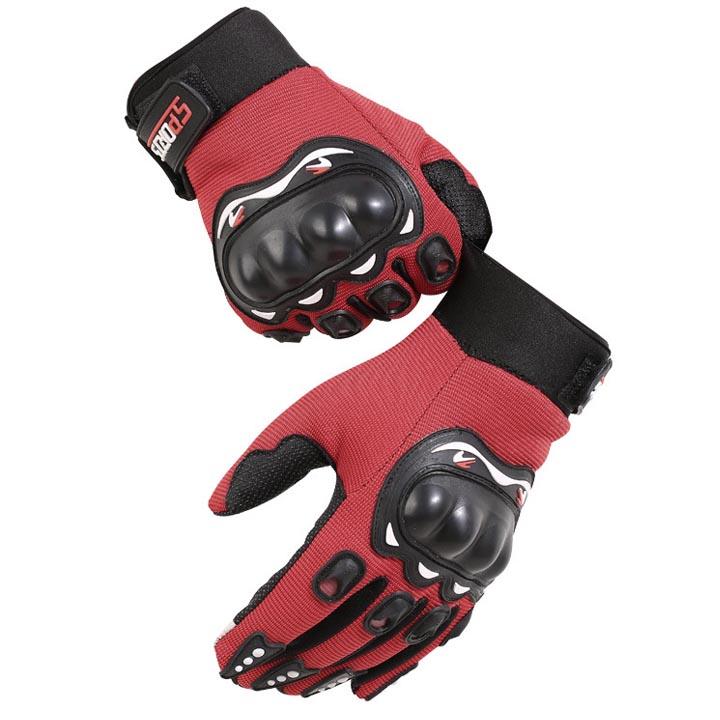 Găng tay cắt ngón thể thao nam có miếng đệm bảo vệ, phù hợp chạy xe máy, xe đạp thể thao