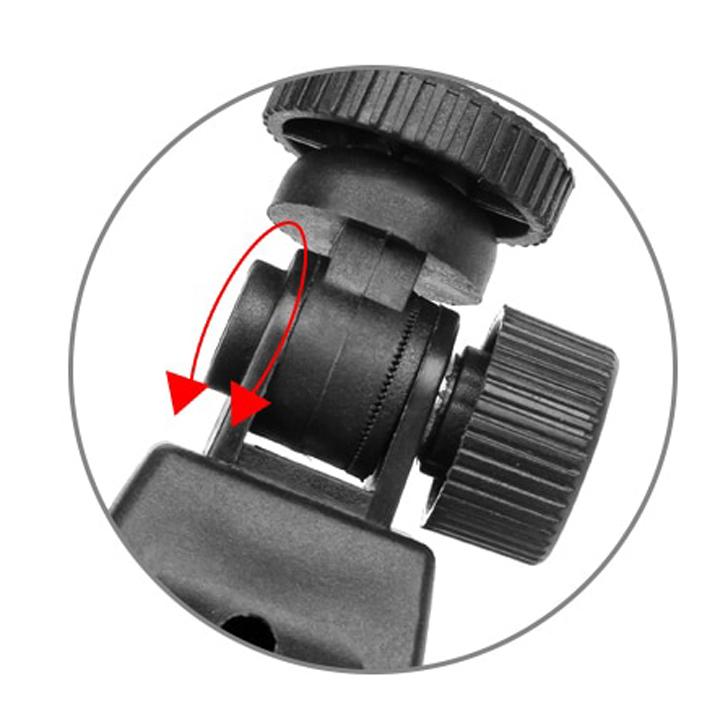 Kẹp chuẩn ốc 1/4 gắn máy ảnh lên ghi đông xe