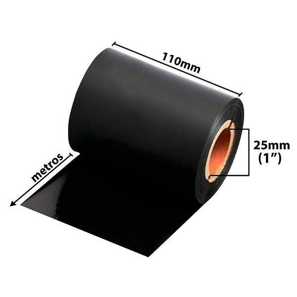 [ Set 5 cuộn] Mực in mã vạch (Ribbon) WaxRisen (110mmx300m) Uotside - Hàng nhập khẩu