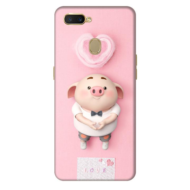 Ốp lưng dành cho điện thoại Oppo F9 - A7 - Heo Con Yêu Đời