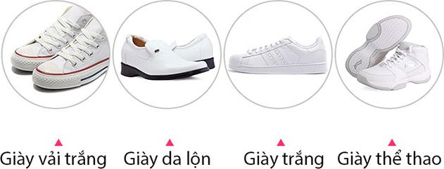 Tẩy trắng giày dép, túi xách - Đánh giày dép - Dung dịch đánh giày - Rửa giày dép - Chất tẩy đa năng