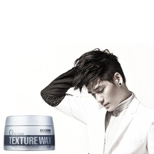 Sáp vuốt tóc siêu cứng Mugens Texture Wax Hàn Quốc 90g + Móc khóa