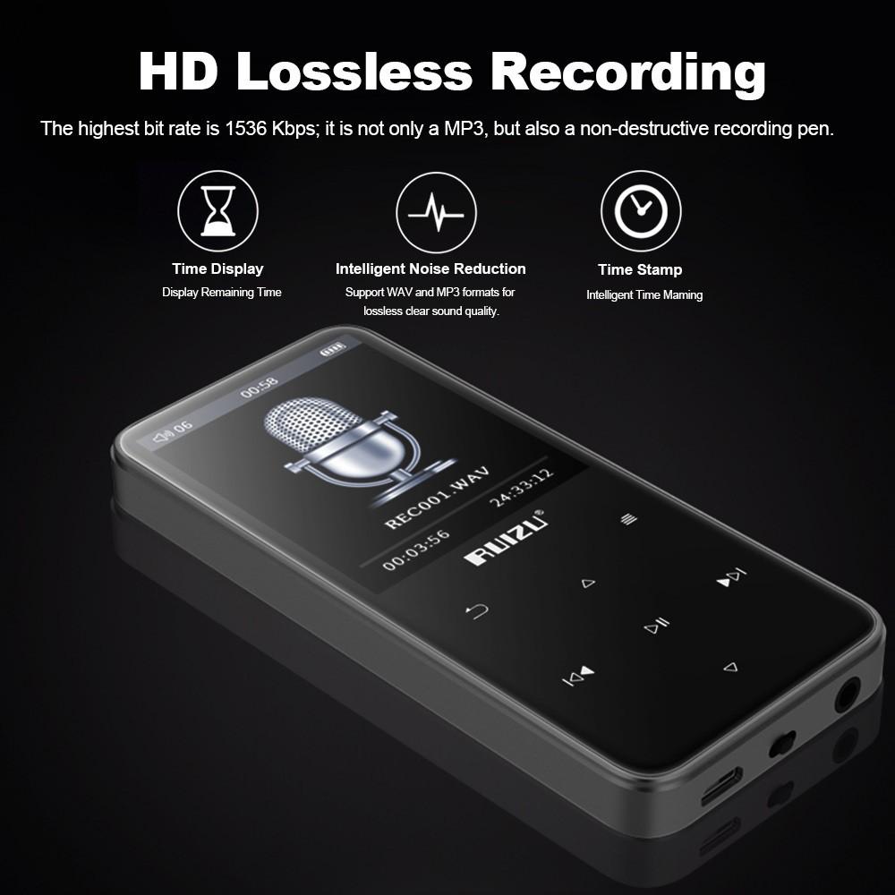 Máy Nghe Nhạc Mp3 Lossless Bluetooth Ruizu D10 - Hàng Chính Hãng