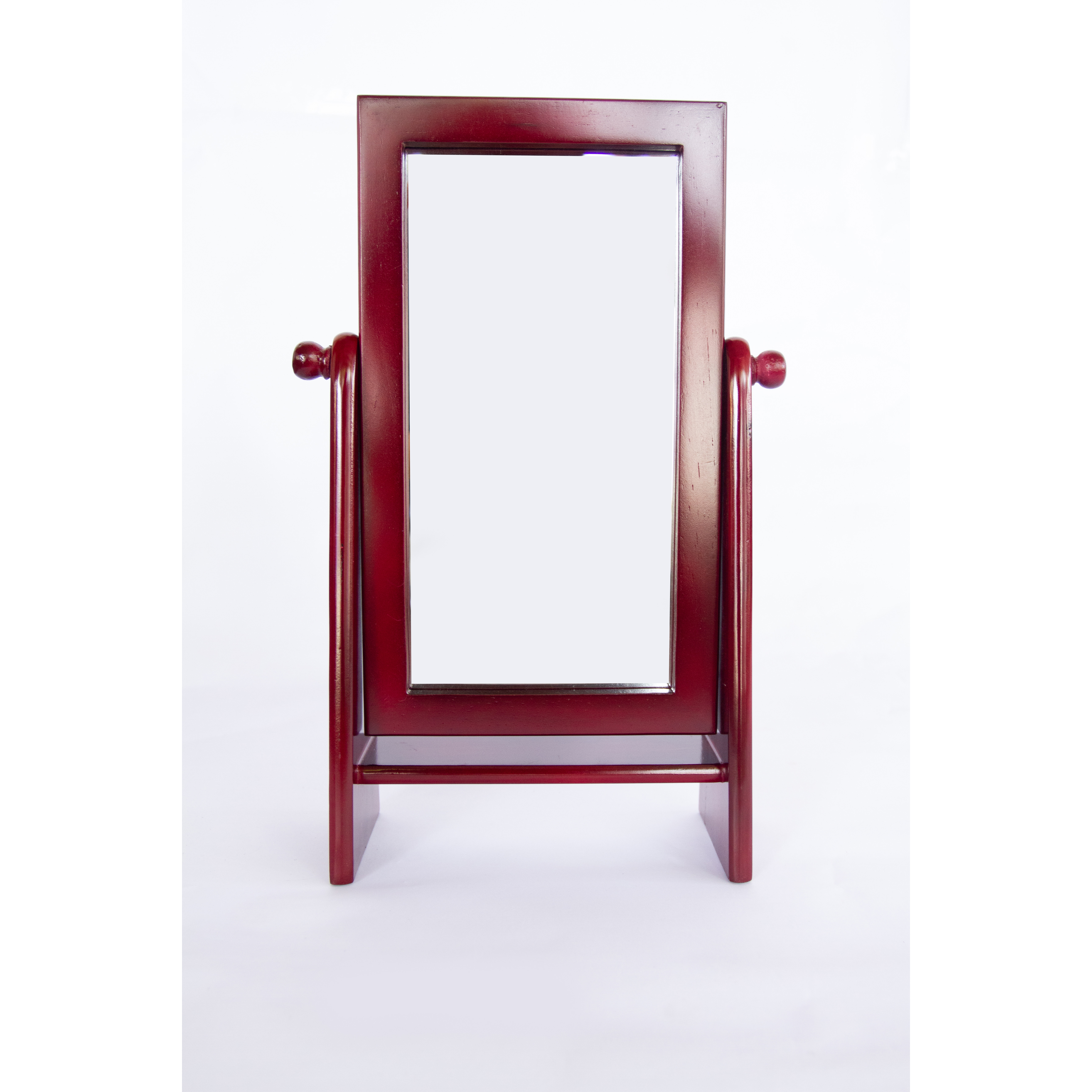 Gương soi gỗ để bàn Vuông