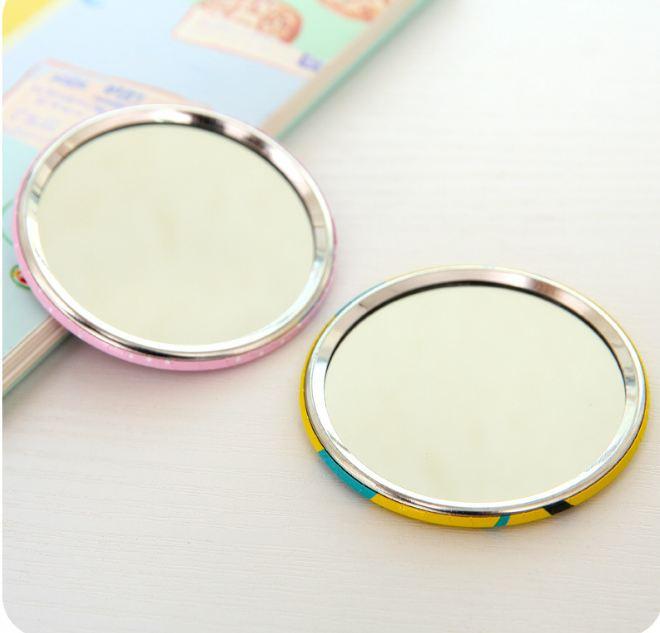 Bộ 3 gương trang điểm mini bỏ túi ví tiện lợi