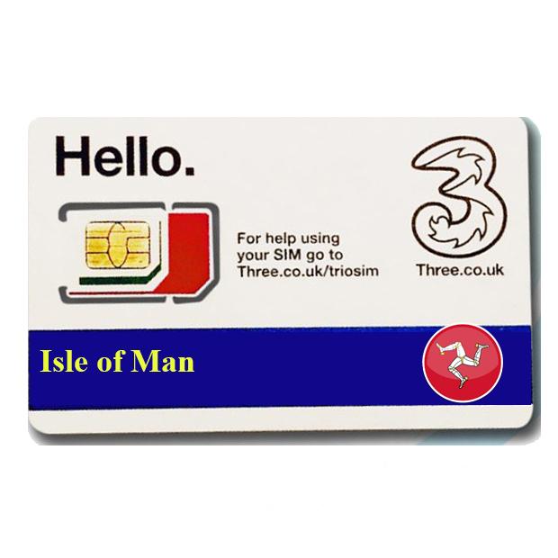 Sim du lịch Isle of Man 4G tốc độ cao