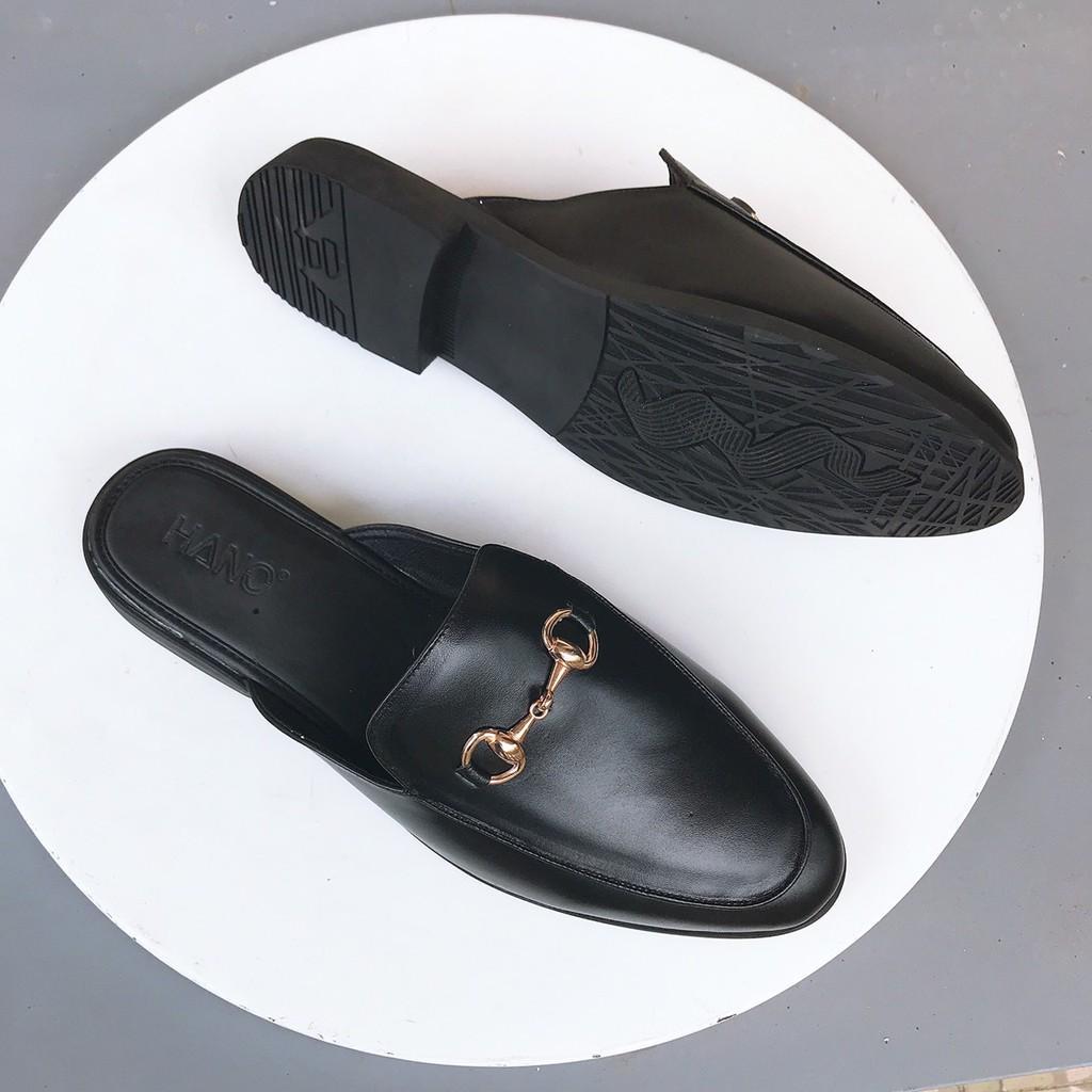 HANO - Giày Sục Nam Da Thật Khóa Thanh Lịch Trẻ Trung Chuẩn Xịn Êm chân S1182