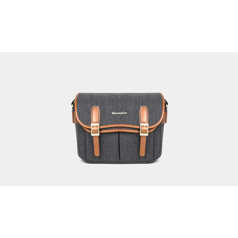 Túi máy ảnh Herringbone Maniere Large - Charcoal color