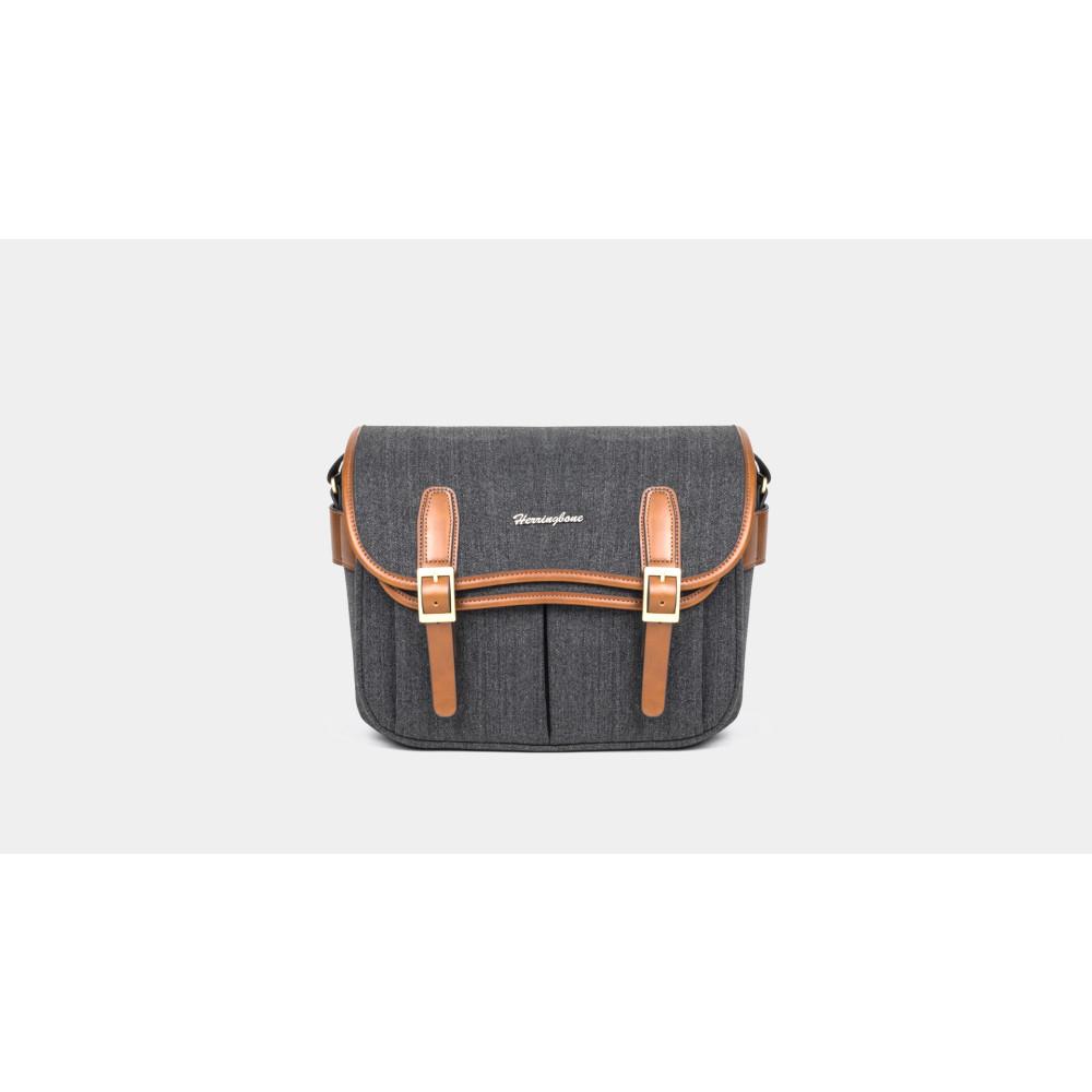 Túi máy ảnh Herringbone Maniere Medium - Charcoal color