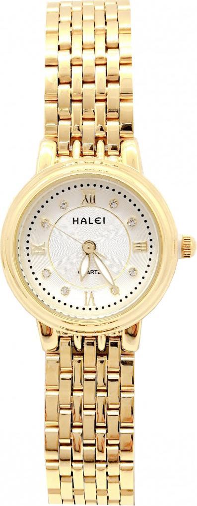 Đồng hồ Nữ Halei cao cấp - HL494 Dây vàng - Trắng