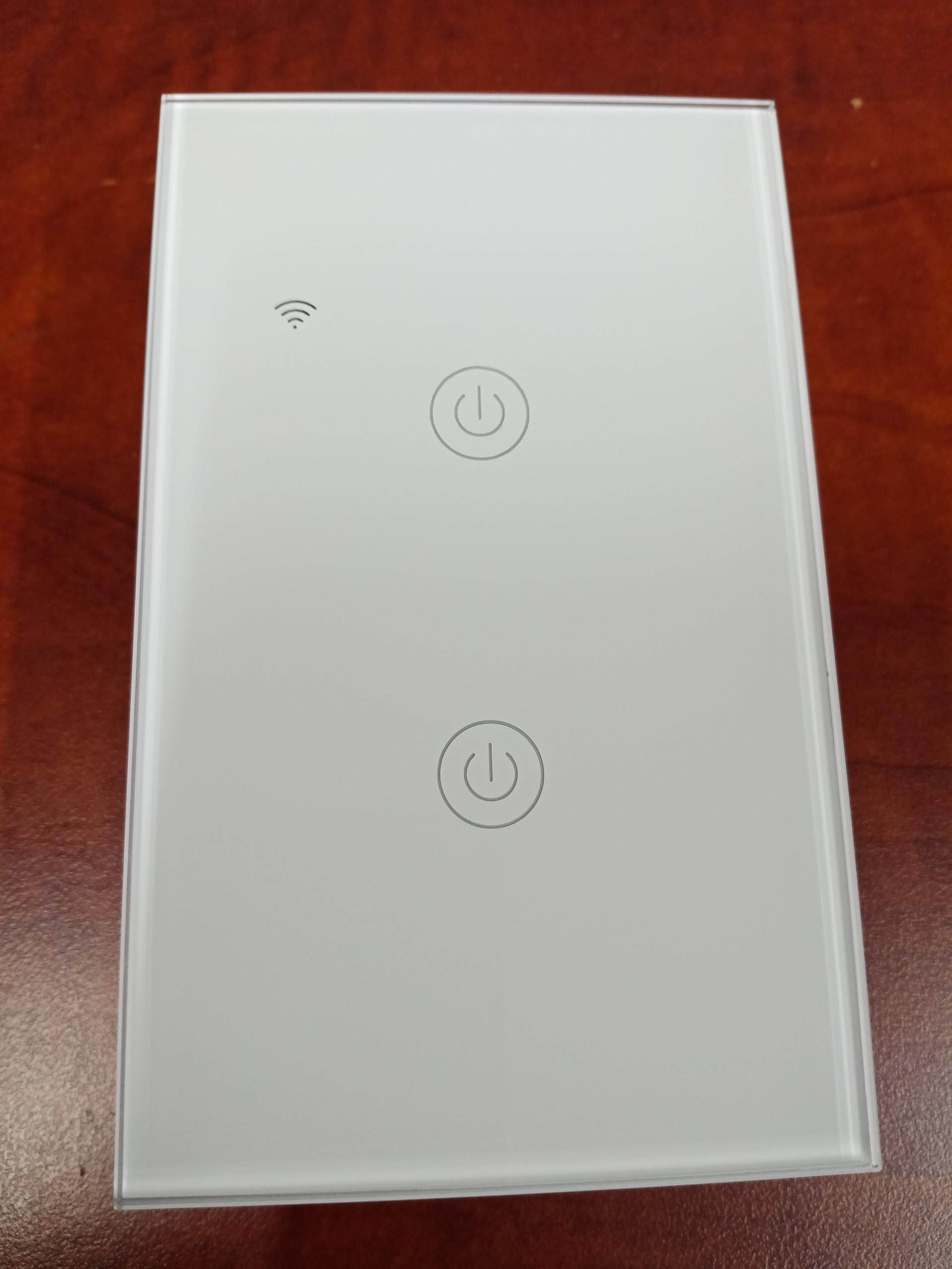 Công tắc điện thông minh Wifi cảm ứng 2 nút giá rẻ - màu trắng HCN - Hàng nhập khẩu