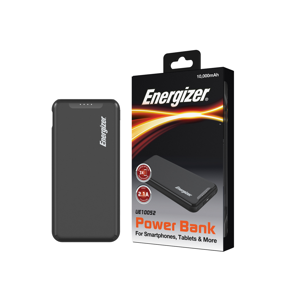Sạc dự phòng Energizer 10,000mAh /3.7V Li-Polymer - UE10052BK - Hàng Chính Hãng