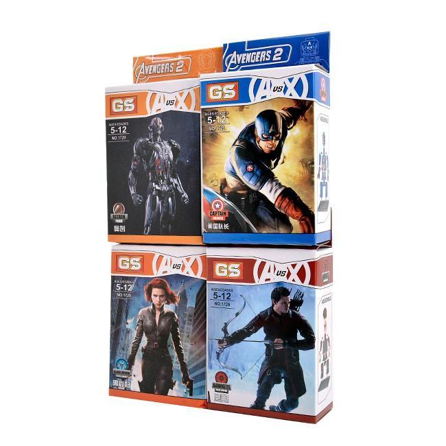 Combo 4 bộ đồ chơi xếp hình siêu nhân cho bé 1729_4 OK0015