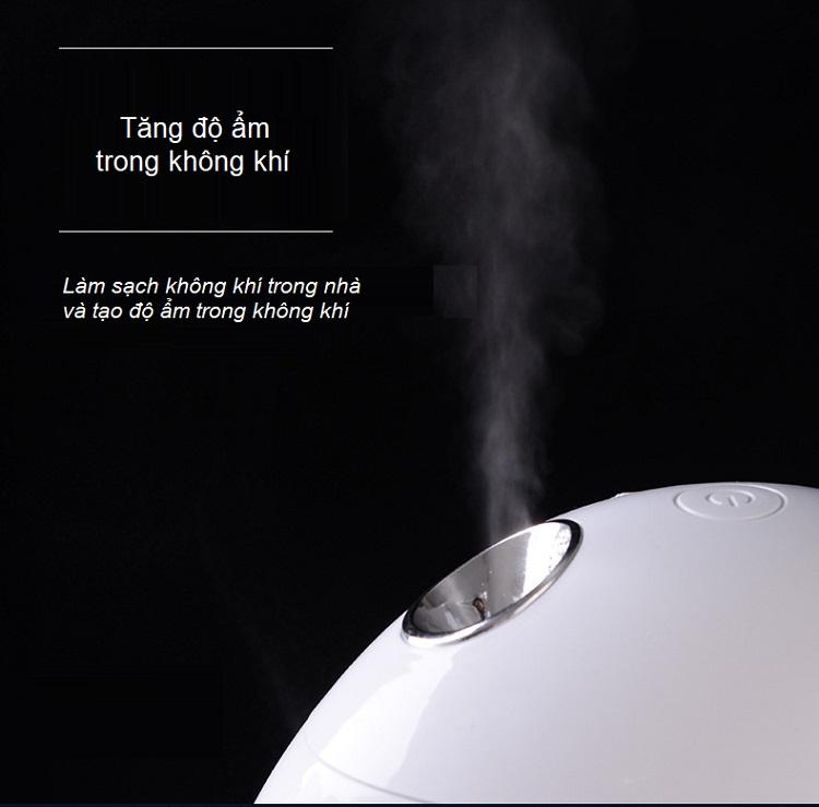 Máy tạo độ ẩm mini bầu dục thể tích bình 800ml