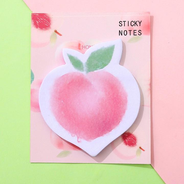 Giấy note 100 tờ hình đào và bơ nhỏ gọn tiện lợi họa tiết ngộ nghĩnh cho mọi lứa tuổi – H043