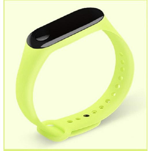 Dây đeo thay thế thân thiện với môi trường từ nhựa TPE mềm dạ quang cho Xiaomi miband 3, 4 M3M4 LUMINOUS STRAP