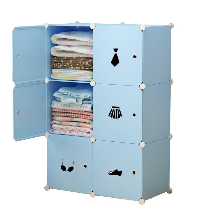 Tủ nhựa ghép 6 ngăn ( 74 x 37 x 110cm )