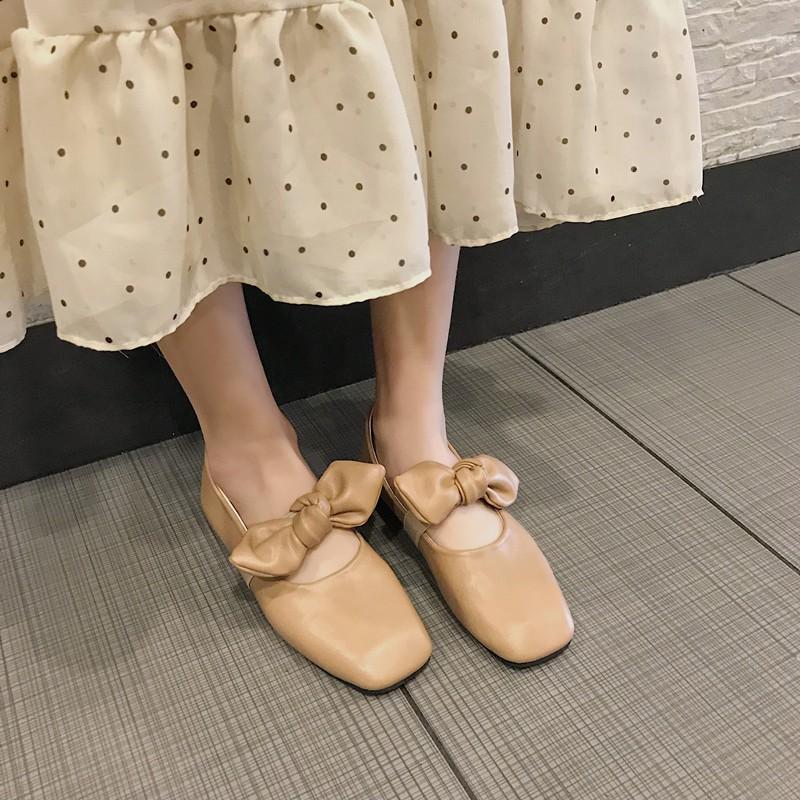 Giày bệt nơ tiểu thư