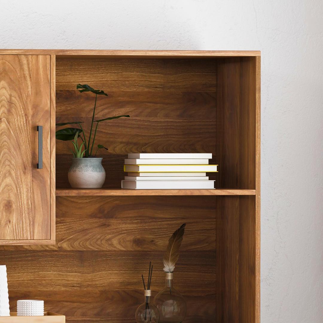 Kệ sách gỗ hiện đại SMLIFE Bokeem