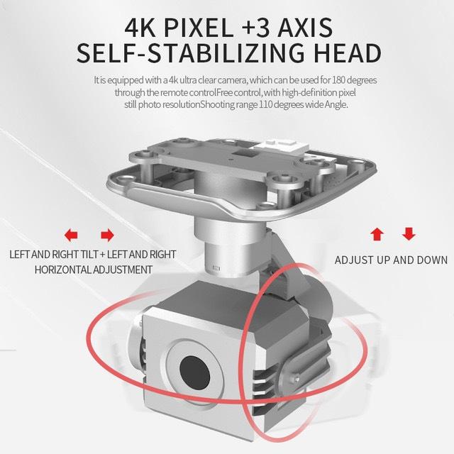 Máy bay Flycam L5 PRO, Camera 4K, Gimbal chống rung 3 trục, Truyền ảnh trực tiếp về điện thoại - Hàng Chính Hãng