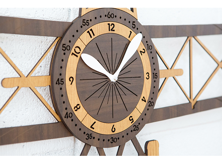 Đồng hồ treo tường trang trí decor nhà cửa hình máy bay - Airplane wall clock