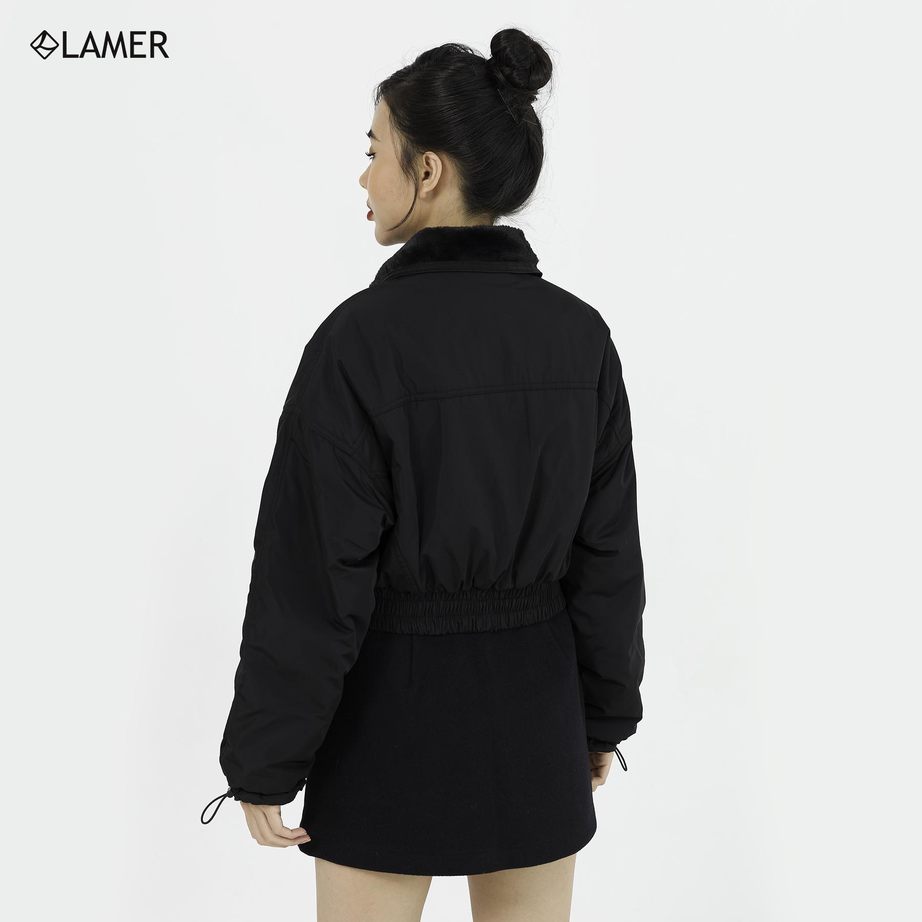Áo phao croptop lót lông (mặc 2 mặt) LAMER N65P20T084