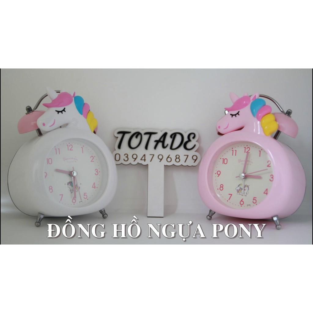 Đồng hồ để bàn hình ngựa Pony siêu kute - Có 3 màu