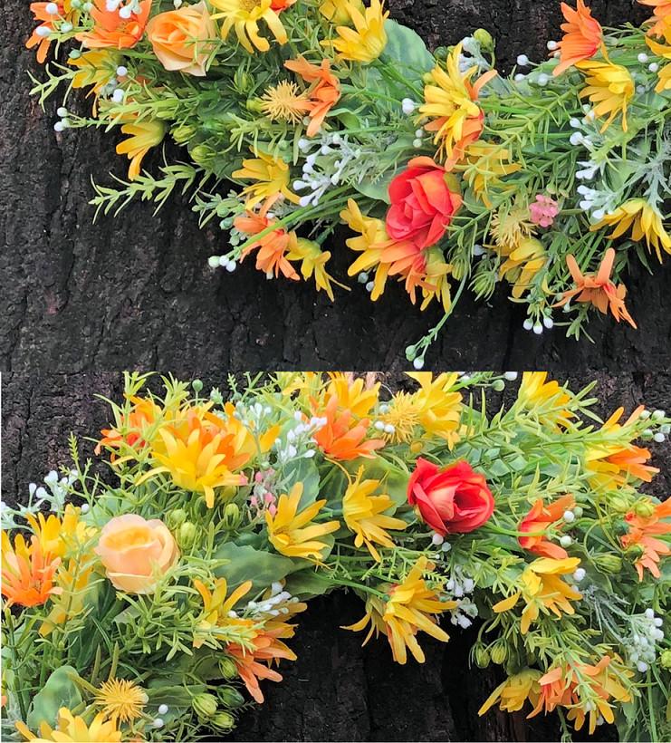 Vòng Hoa Vải Handmade V16032