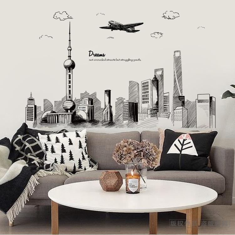 Decal dán tường mẫu kết hợp Dubai xc9001- xc9002