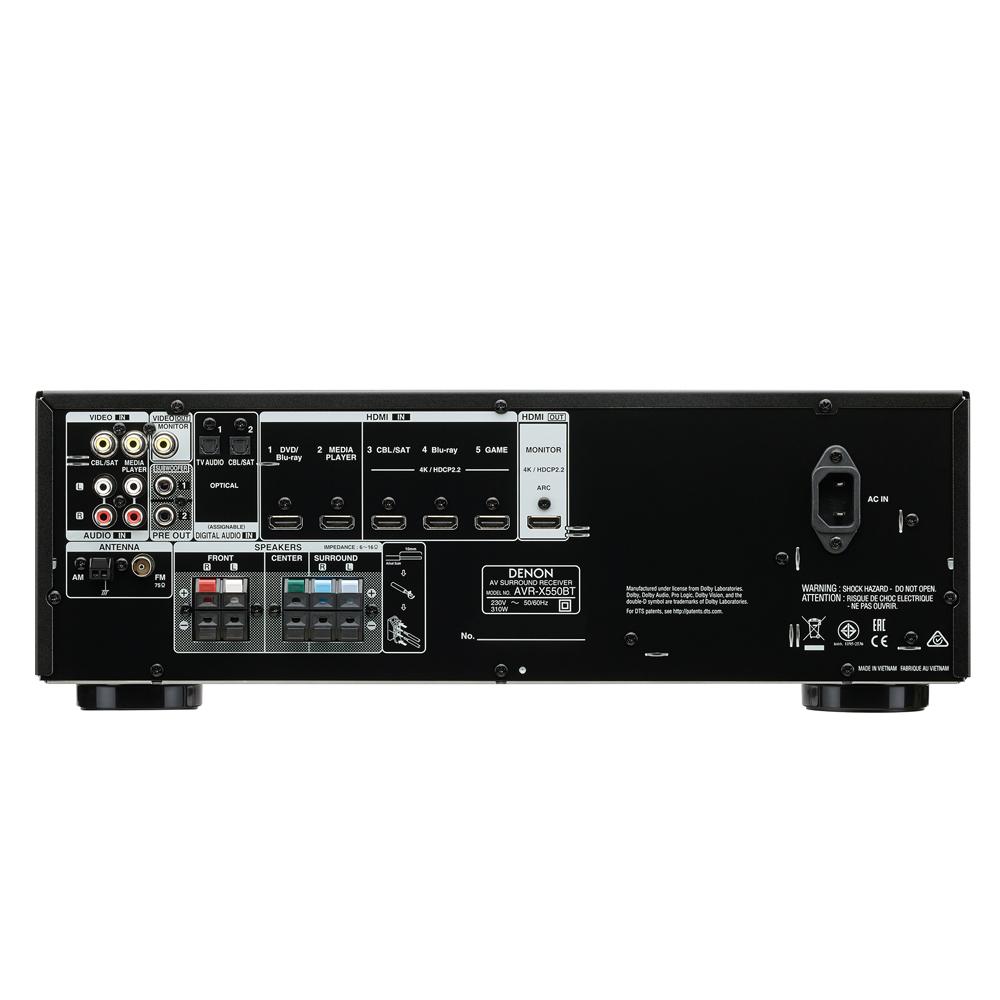 Ampli xem phim đa kênh DENON AVR X550BT - Hàng chính hãng