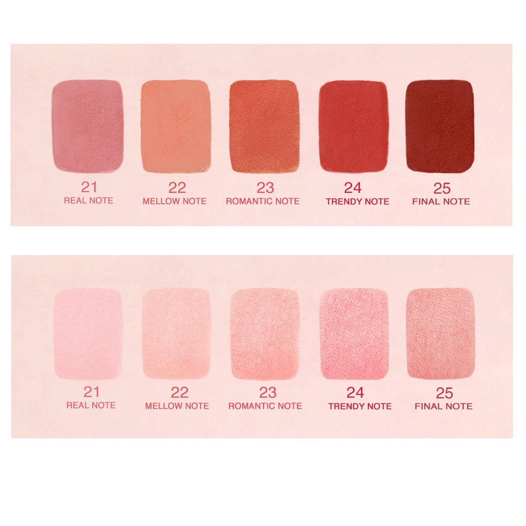 Son kem lì Bbia Last Velvet Lip Tint - 24 Trendy Note 5g (màu hồng đất ánh cam nhẹ)