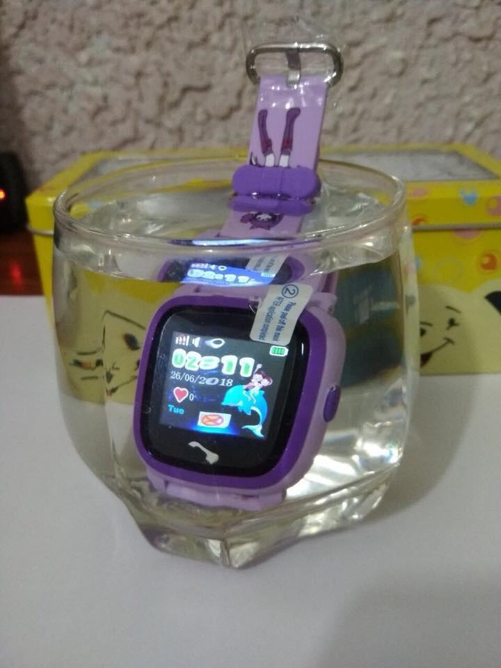 Đồng hồ định vị DF25 chống nước 9 màu tím)