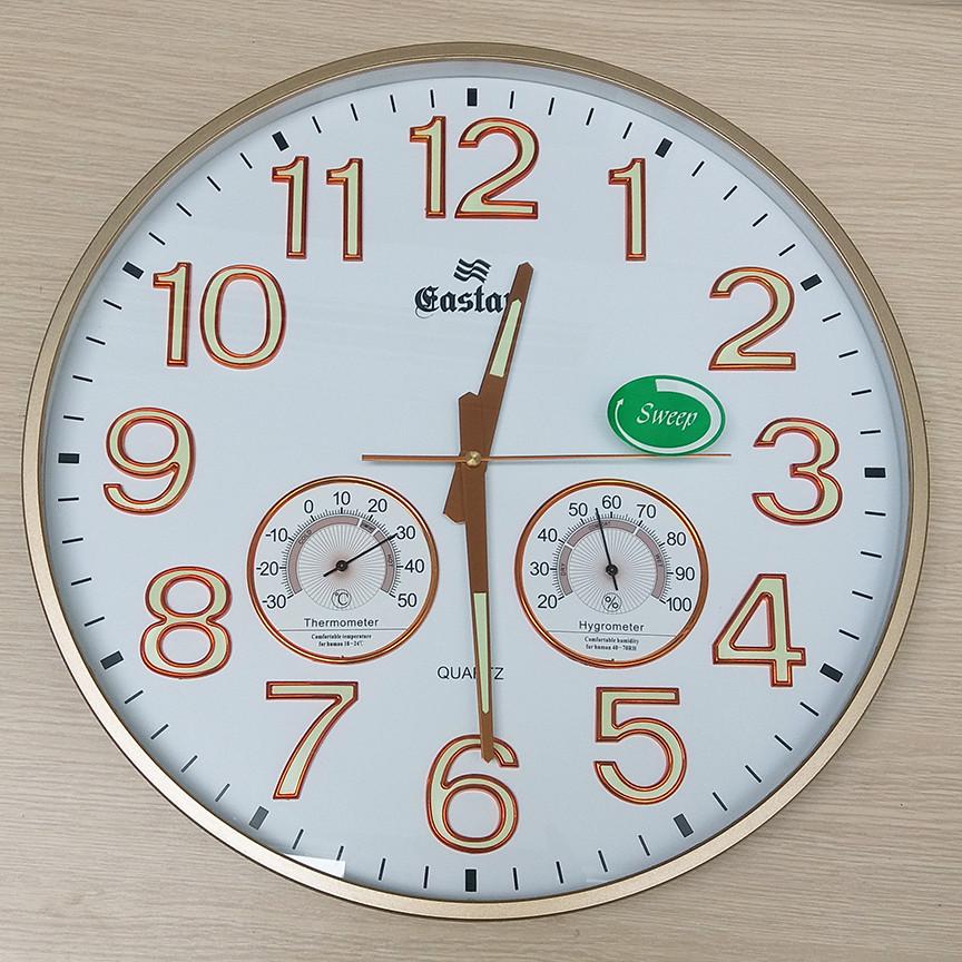 Đồng hồ Eastar Tròn có Dạ quang và Đồng hồ Cơ Đo Nhiệt Độ - Độ Ẩm