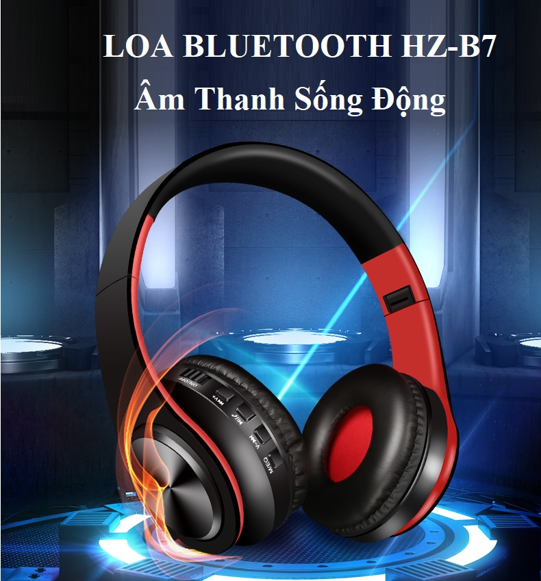 Tai Nghe Bluetooth HZ-B07 Thiết Kế Gấp Nhỏ Tiện Lợi.