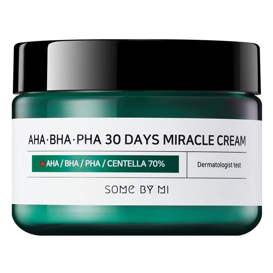 Bộ Dưỡng Da Ngăn Ngừa Mụn Nước Hoa Hồng Và Kem Dưỡng Some By Mi AHA BHA PHA 30 days Miracle ( Toner 150ml + Cream 50ml )