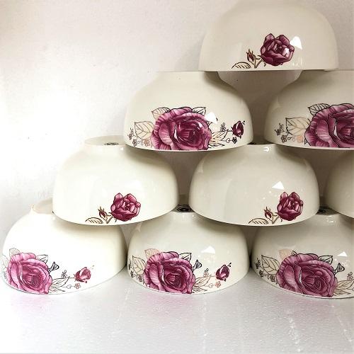 Bộ 6 bát cơm sứ Hoa hồng cao cấp