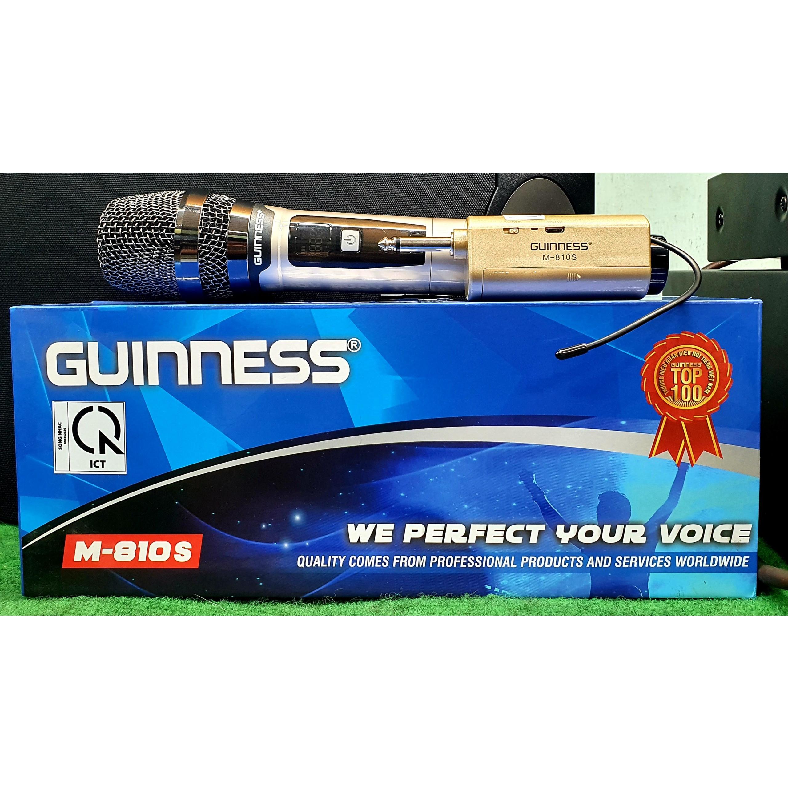 Micro Không Dây Guinness 810S Hàng Chính Hãng