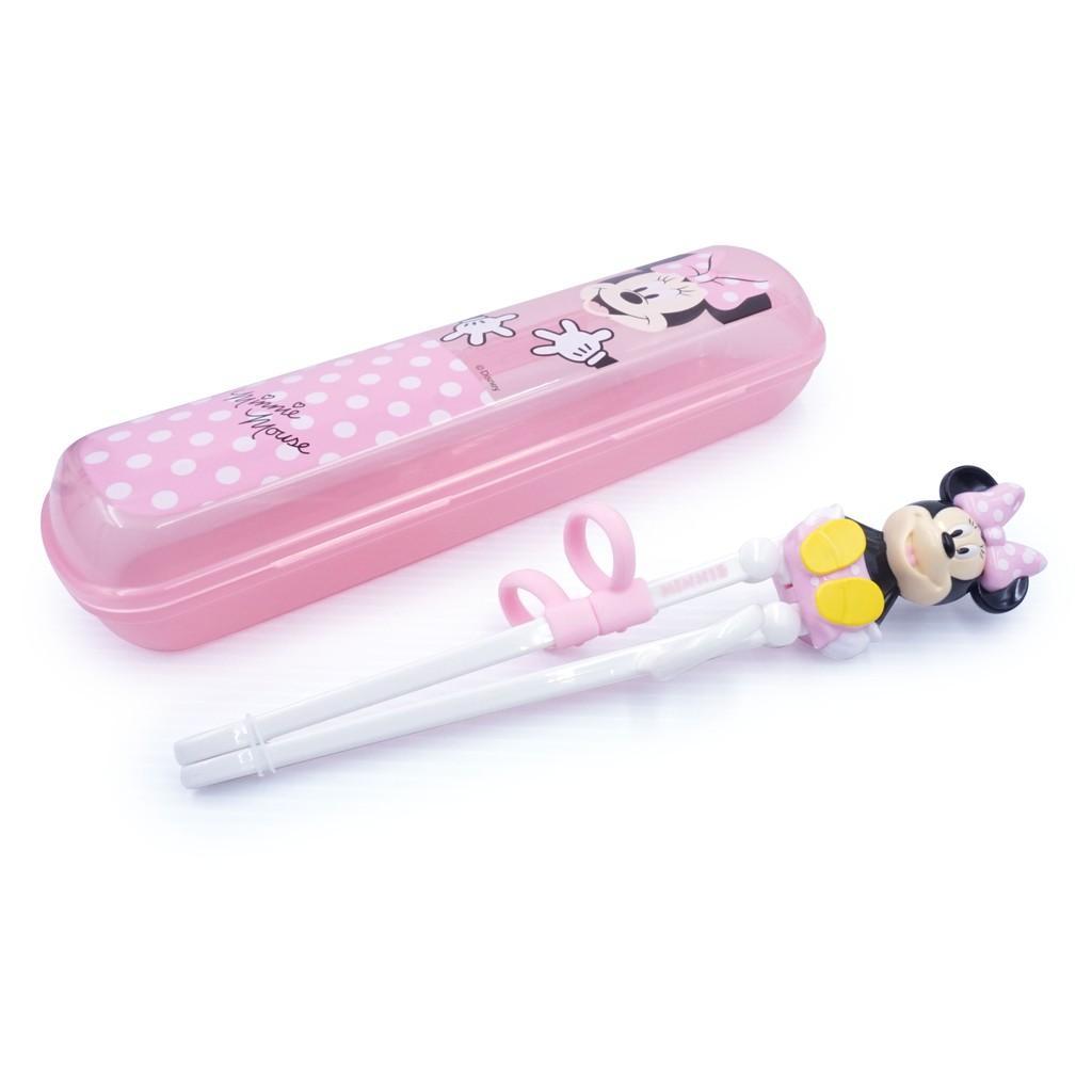 Đũa tập ăn 3D Mickey,Minnie...-Disney kèm hộp đựng cho bé.