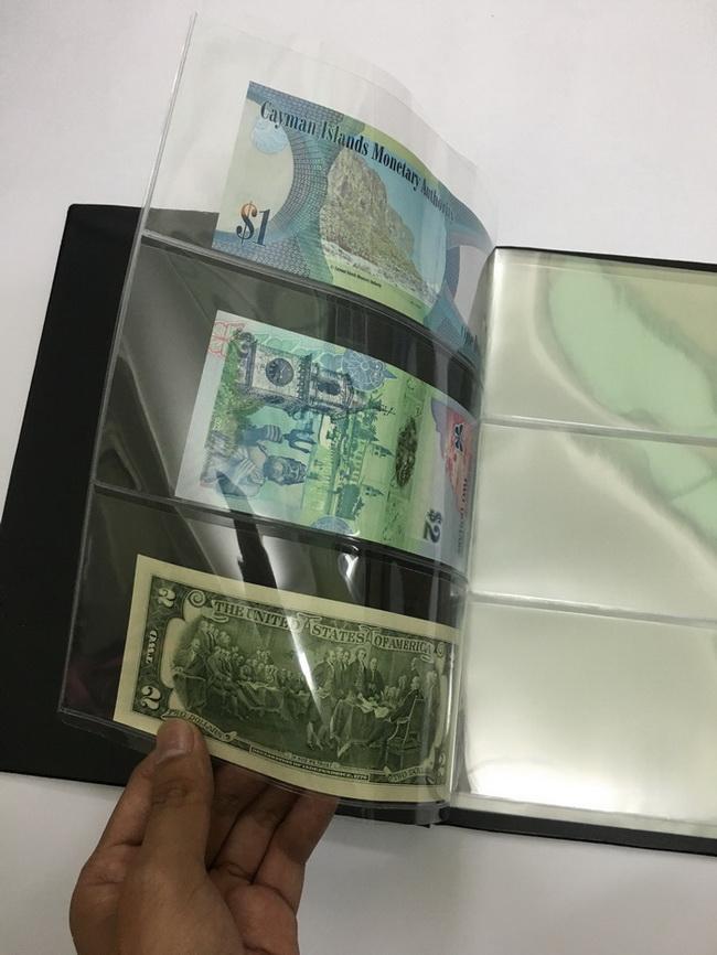 Album đựng tiền giấy 20 phơi 3 ngăn trong suốt đựng được 60 tờ tiền - PASA [màu ngẫu nhiên]